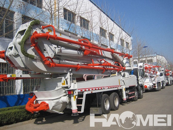 HDT5380THB-45/5 concrete boom pump truck for sale p